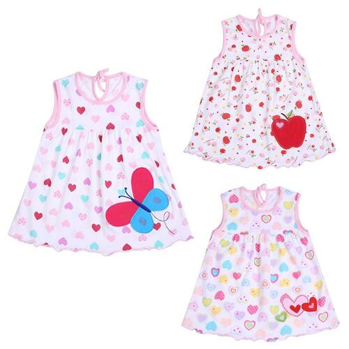 0-2T Fashion Summer Dress for Girl Baby Sleeveless Cotton Princess Dress for Girls Cute Pattern Decor Dot Summer Dresses Clothes