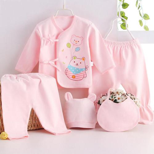 Bekamille Newborn baby sets ( 5pcs/set) infant underwear set unisex clothing suit more 20 styles