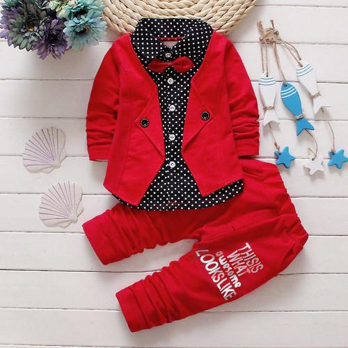 BibiCola Spring Autumn Baby Boys Clothing Set Casual Kids Sport suit Infant Toddler Boys Clothes Top Coat + Pants Tracksuit Set