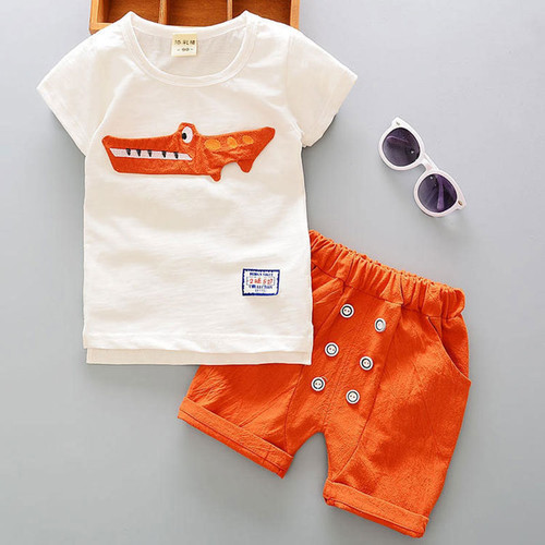 Cartoon Cotton Summer Clothing Sets for Newborn Baby Boy Infant Fashion Outerwear Clothes Suit T-shirt+Pant Suit Bebes Boy Cloth