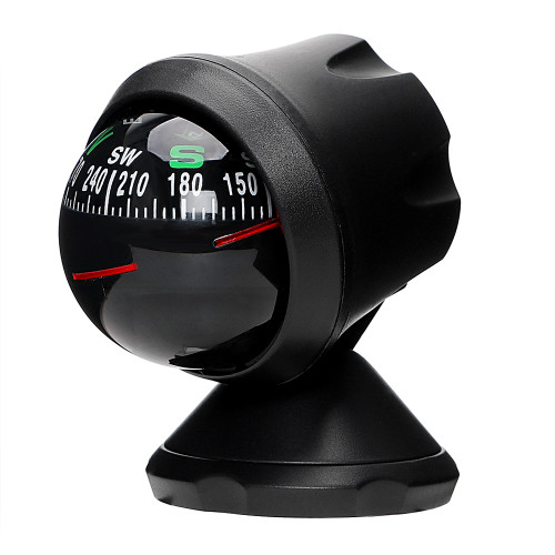 Auto Navigation Compass Ball with Adhesive Outdoor Direction Guidance Tool Interior Accessories Plastic Car Ornaments Decoration