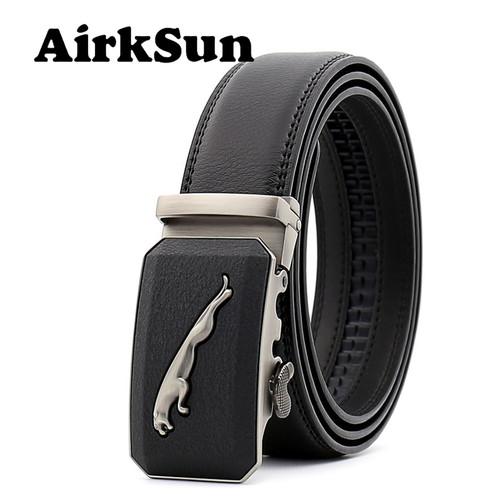 AirkSun 2017 Fashion 140cm Big Size jaguar Designer Buckle Black Belts Luxury Strap Male Genuine Leather Belt Men Cinto