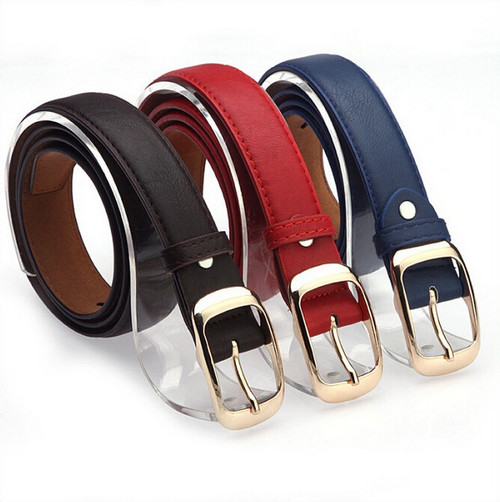 Designer Belts For Women New 2017 Fashion Women Belt Brand Ladies Faux Leather Metal Buckle Straps Girls Fashion Accessories