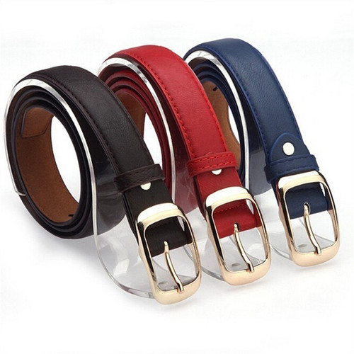 Fashion Female Women Belt Hot Ladies Faux Leather Metal Buckle Straps Girls Summer Dress Accessories