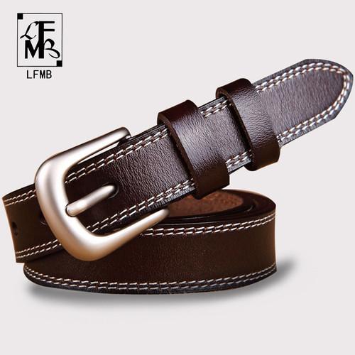 [LFMB]belts for women strap male genuine leather jeans women genuine leather cowhide leather Pin buckle ceinture homme