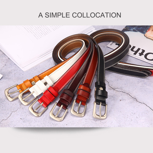 [LFMB]belts for women strap male genuine leather jeans women genuine leather cowhide leather Pin buckle ceinture homme