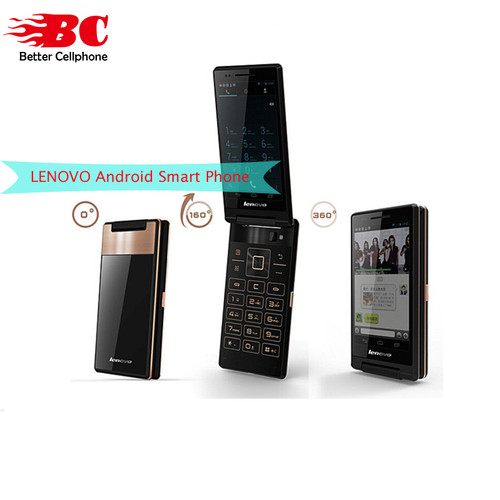 "Lenovo A588T Flip Mobile Phone Android 4.4 MTK6582 Quad Core 512MB RAM 4GB ROM Dual Sim 4"" Touch Screen 5.0MP Camera"