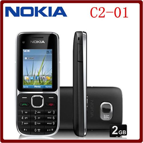 C2-01 Original Unlocked Nokia C2-01 1020mAh 3.15MP 3G Support Russian Keyboard & Aracbic keyboard & Hebrew keyboard Cellphone !!