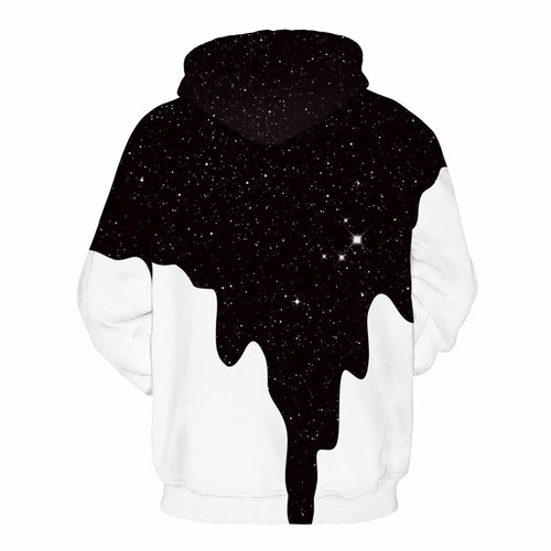TUNSECHY NEW 2018 Hot Fashion Men/Women 3d Sweatshirts Print Spilled Milk Space Galaxy Hooded Hoodies Thin Unisex Pullovers Tops