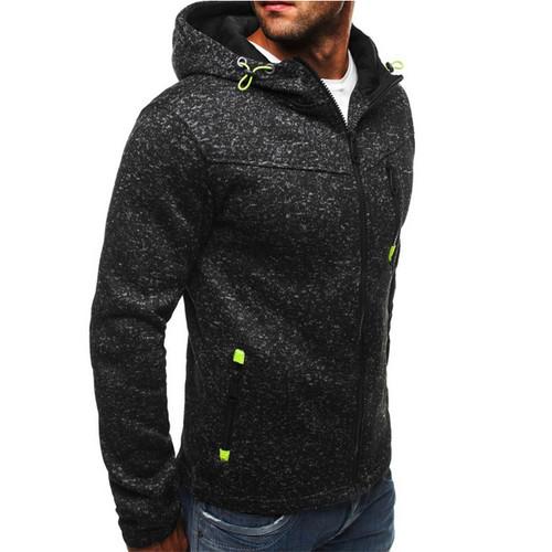 2018 New Spring Fleece Hoodies Men Fashion Solid Sweatshirts Zipper Cardigan Cotton Sportswear Slim Fit Men's Tracksuit 3XL
