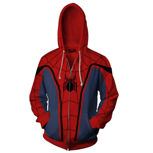 3D Print Zipper Hoodies Super Spider Man Sweatshirts Men Graphics Jackets Winter Casual Harajuku Hooded Coat Long Sleeve Tops