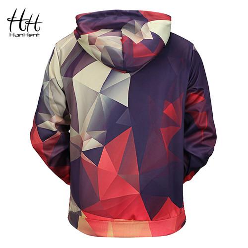 HanHent New Geometric Hoodies 3d Man Streetwear 2018 Fashion Hoody Men's Clothing Men 3d Sweatshirt Geeks Math 3d-hoodies HD0005