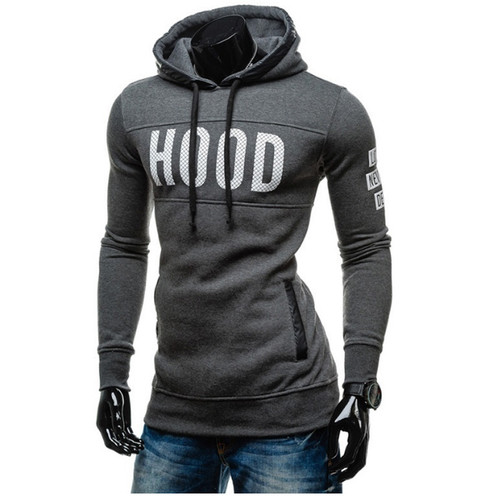 Moleton Masculino 2017 Slim Hoodies Men Sweatshirt Long Sleeve Pullover Hooded Sportswear Men'S Letters Printed Tracksuit S-XXL