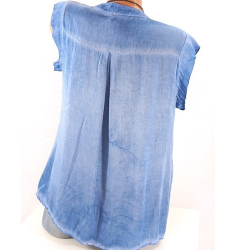 Plus Size 5XL Women  Tops and Blouse Solid Sleeveless V Neck Loose Casual Summer Top Blouses Shirt Tee Tops 2018 Boho Korean Top