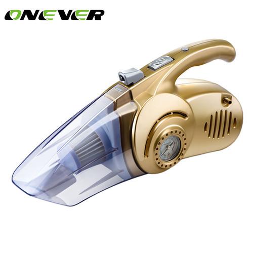 Onever 12v mini car air compressor tyre inflator infaltion pump handheld led light car vacuum cleaner auto portable dust brush