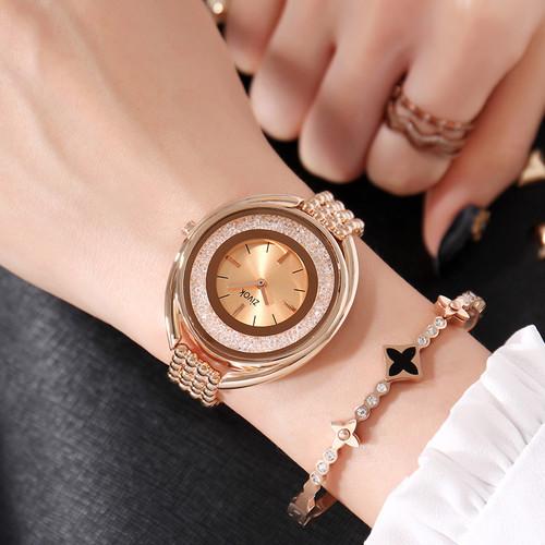 zivok Luxury Women Bracelet Watches Brand Fashion Rose Gold Quartz Lovers Wrist Watch Clock for Women Girls Relogio Feminino