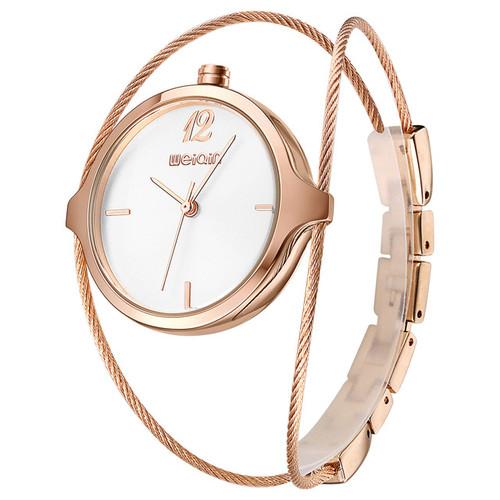 Top Brand Luxury Rose Gold Women Metal Steel Strap Bracelet Watches Women Fashion Quartz Watch Waterproof Relogio Feminino
