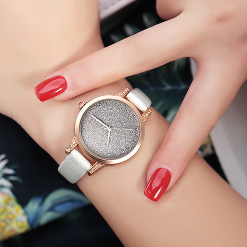 Women Watches REBIRTH Rhinestone Luxury Lady Wristwatches Leather Fashion Causal Dress Watch Women Quartz Watch Bracelet Watches