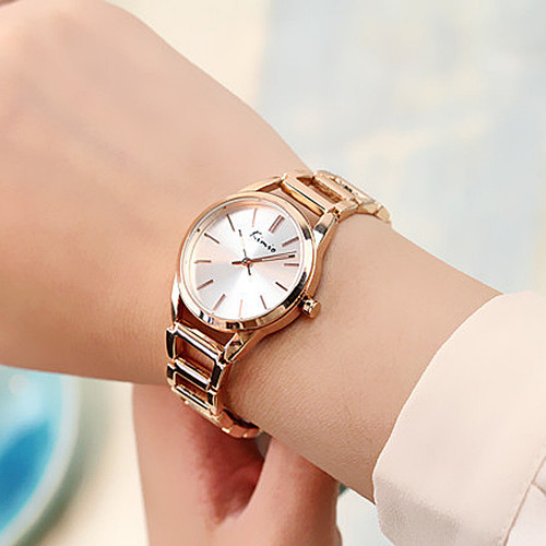 TG099 KIMIO Swirl Marks Dial Jewelry Fashion Lady Quartz Analog Bracelet Watch