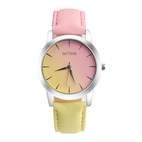 Two-tone Fashion Ladies Wrist Watches Luxury Brand Women's Bracelet Watches New Simple Design Quartz Watches Horloge Dames