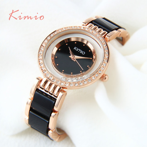 KIMIO Brand Relojes mujer Quartz watches women Luxury Diamond Rhinestones Dress girl Bracelet watch Ladies clock female watches