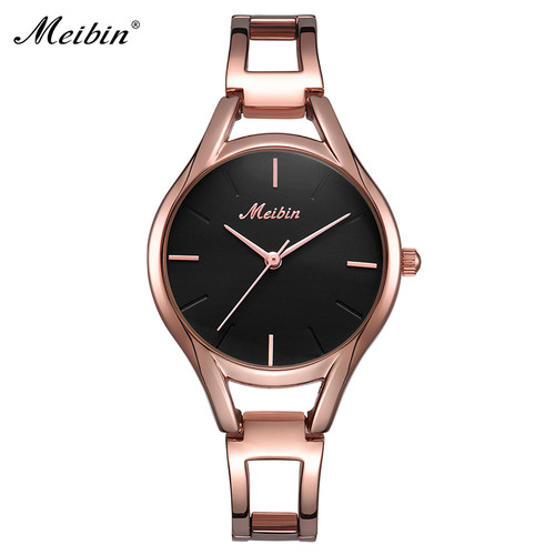 MEIBIN Brand Elegant Women Bracelet Watch Fashion Style Ladies Quartz Watches Female Dress Wristwatch Montre Femme Gifts 1053