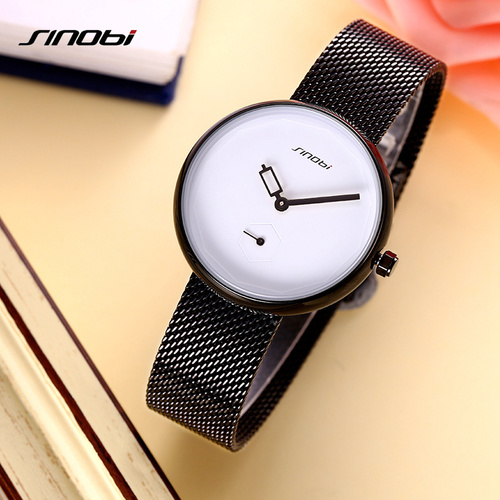 SINOBI Women Watches Luxury Brand Fashion Creative Dial Ladies Quartz Ultra Thin Watch Women Bracelet Watch Reloj Mujer 2017