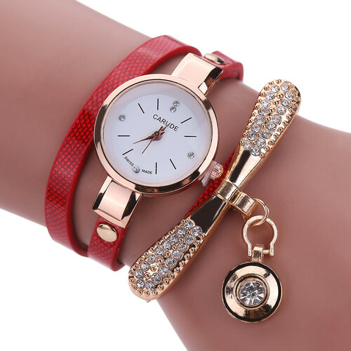 Women Watches Fashion Casual Bracelet Watch Women Relogio Leather Rhinestone Analog Quartz Watch Clock Female Montre Femme