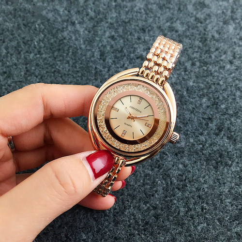 Top Brand CONTENA Watch Women Watches Rose Gold Bracelet Watch Luxury Rhinestone Ladies Watch saat montre femme relogio feminino