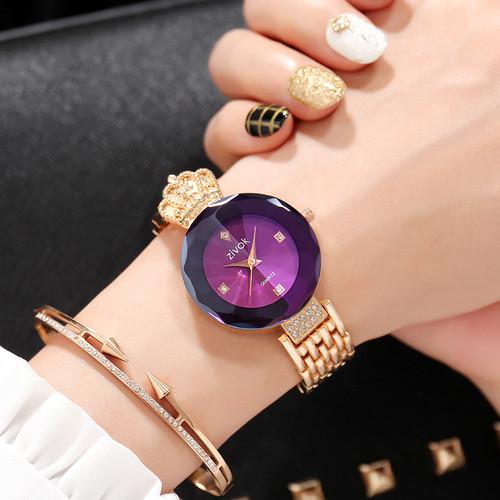 zivok Brand Luxury Women Bracelet Watches Rose Gold Fashion Quartz Wrist Watch Clock Women Relogio Feminino Girls Lovers Watch