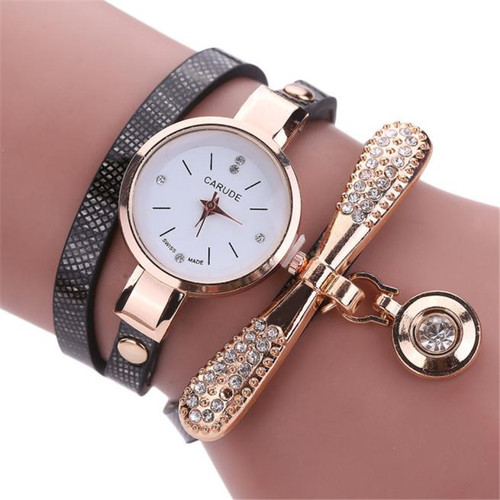 Women Famous Brand Watches Fashion Women's Ladies Leather Rhinestone Analog Quartz Dress Wrist Watches Montre Bracelet Femme