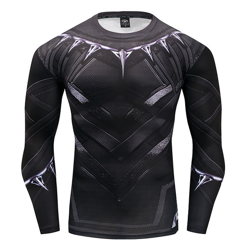 Black Panther T Shirt Captain America 3 Superhero Winter Soldier 3D Printed T-shirts Fitness Men Crossfit Compression Shirt Tops