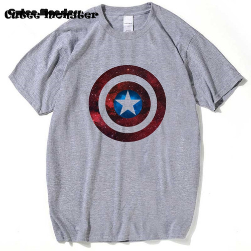 Shield Space T-Shirt Captain America Shield Civil War Tees 3D Printed T-shirts Men Marvel Avengers Iron Tops Clothing Male