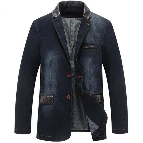 NEW Leisure cowboy Coats Mens Loose Blazer Suit Autumn Denim Jackets Fashion Chaqueta Coat Jacket Tops Outer Male Blazers