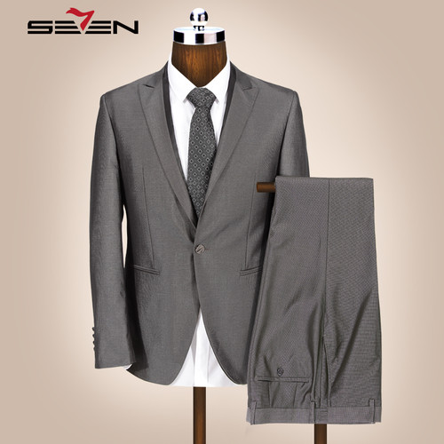 Seven7 Groom Wedding Suit For Men Formal Slim Fit Tuxedos Prom Suits Set Latest Designs Male Pants Jacket Clothes 2018 703C1293