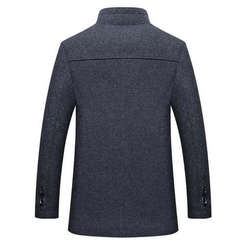 TANGNEST 2018 New Arrival Men's Fashion Winter Single Breasted Blazer Suit Male Slim Fit New Collar Design Suit MWX125