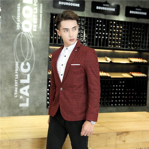 2017 New Mens Blazer Spring Fashion Suits For Men Top Quality Blazers Slim Fit Jacket Outwear Coat Homme Formal Suit Blazer Men