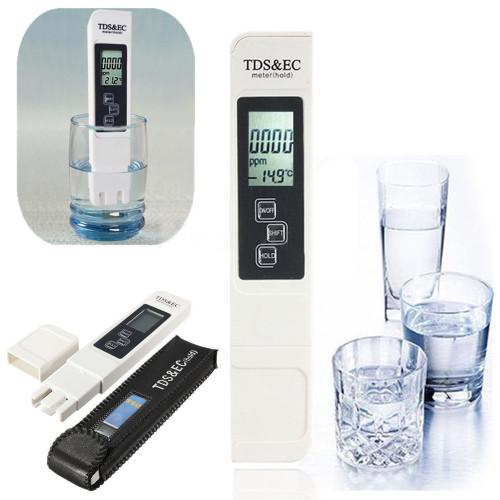 Portable Digital LCD TDS EC Water Quality Meter Tester Pen Filter Purity for Aquarium Pool Hydroponics Measuring Tool PH Meter