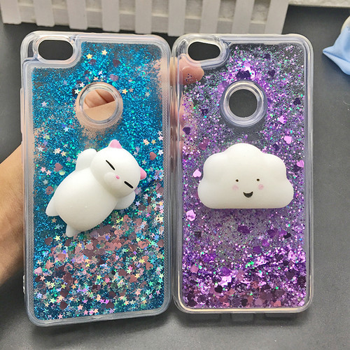 Cute 3D Squishy Cat Case For Xiaomi 5 mi6 Redmi 4X 4A Note 4 3 4X Luxury Glitter Quicksand Phone Cases Redmi note 5A prime Case
