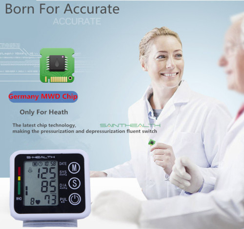 Saint Health Health Care Automatic Tonometer Wrist Blood Pressure Monitor Digital LCD Wrist Blood Pressure Meter For Measuring