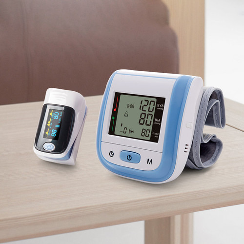 Yonker Medical Fingertip Pulse Oximeter & Wrist Blood Pressure Monitor Family Healthcare Gift Portable Household Health Monitors