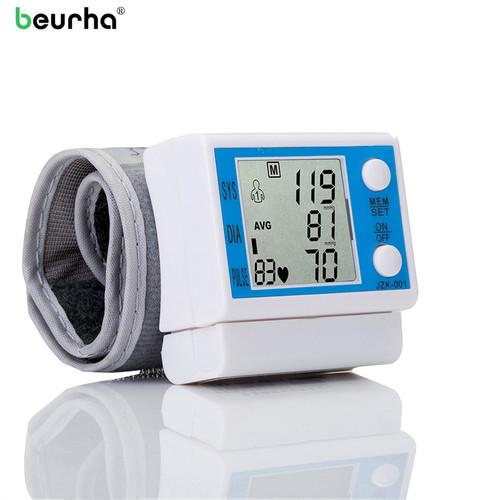 Beurha Automatic LCE Digital Wrist Blood Pressure Monitor Tonometer Health Monitors Pulse Rate Monitor Oscillometric method