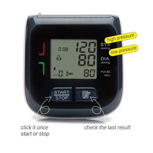 Yongrow Wrist Watch Blood Pressure Monitor Digital Wrist Blood Pressure Meter With Family Health Care Blood Pressure Machine
