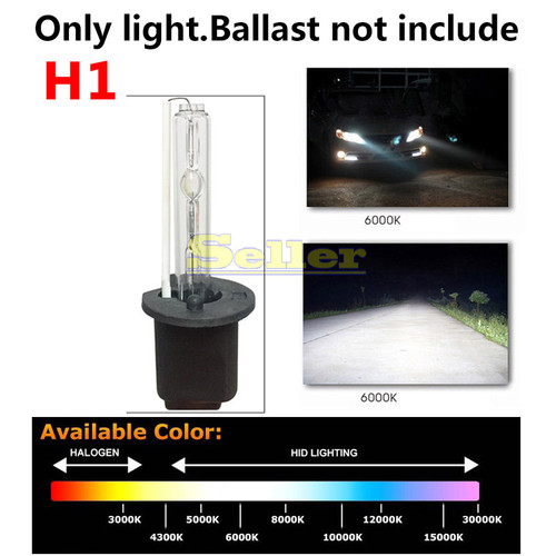 H1 HID Xenon Bulbs Pure White Replacement 3000K-15000K 12V 35W 55W Car Headlight Bulb Fog lights Lamp Car Light Source Auto