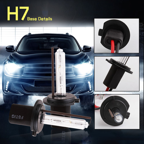 1Pair Car Headlight HID Xenon H7 Bulb 35W 55W 3000K 4300K 5000K 6000K 8000K 10000K 12000K Auto Lamp 12V H7 Xenon Bulbs Fog Light