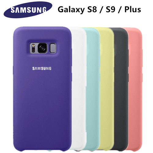 100% Original Samsung Silicone Cover Case for Samsung Galaxy S8 S9 PLUS g9550 9500 EF-PG950 - 6 colors Anti-Wear Protection