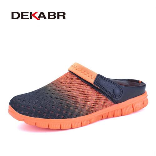 Big Size 36-46 Men Summer Shoes Sandals  New Breathable Beach Flip Flops Slip On Mens Slippers Mesh Lighted Unisex Shoes
