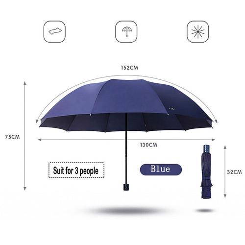 130CM Big Top Quality Umbrella Men Rain Woman Windproof Large Umbrellas Male Women Sun 3 Folding Big Umbrella Outdoor Parapluie