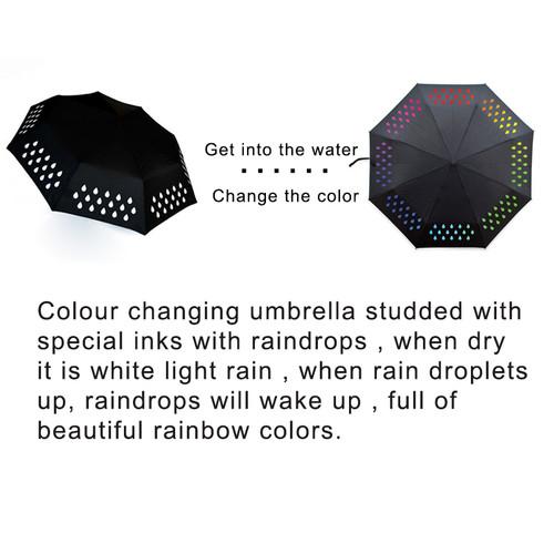 2017 Creative 1pcs Colour Changing Umbrella gradient Rainbow Novelty pocket umbrella rain women parasol ladies reverse umbrellas