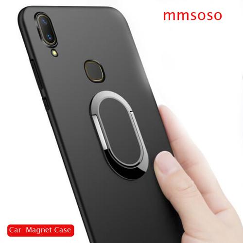 Case For Vivo V9 / Vivo Y85 Case 360 Protection Soft Silicone Car Holder Magnetic Phone Cases For Vivo V9 / Vivo Y85 Cover